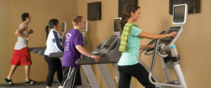 students on treadmill