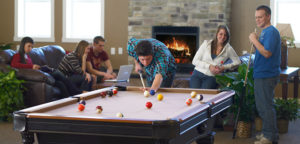 College Town Pool Table Rec Room Scene
